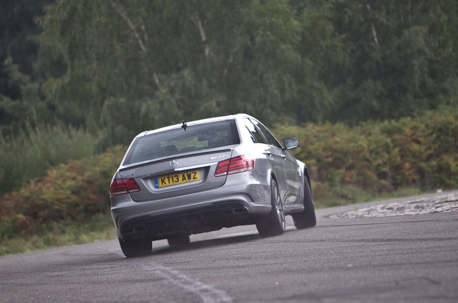 Mercedes-AMG E 63 rear cornering