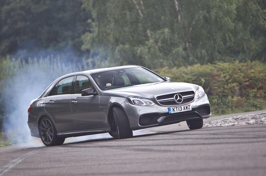 Mercedes-AMG E 63 hard cornering