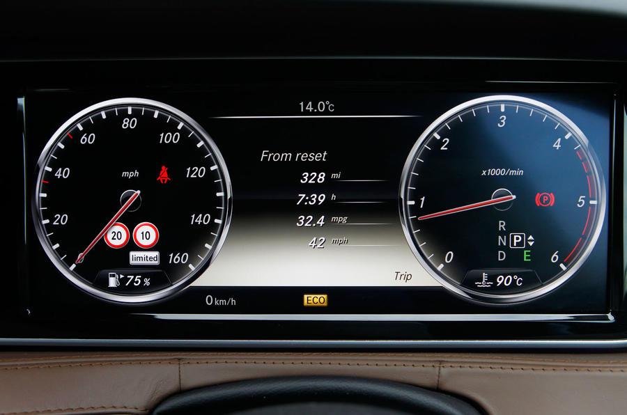 Mercedes-Benz S-Class instrument cluster