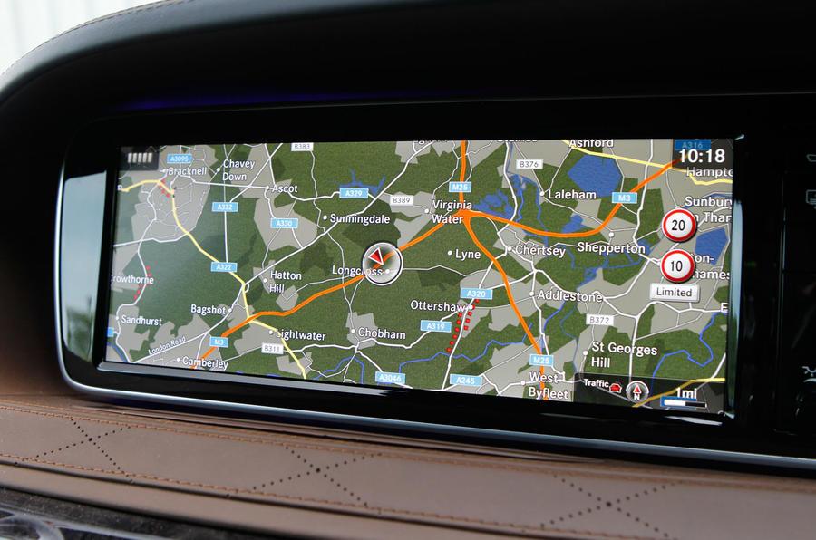 Mercedes-Benz S-Class infotainment display