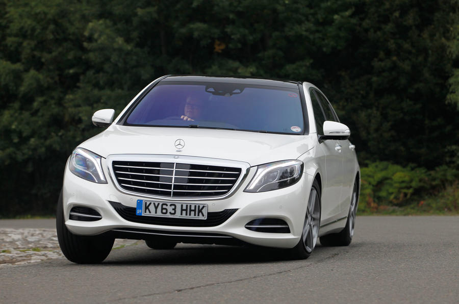 Mercedes-Benz S-Class hard cornering