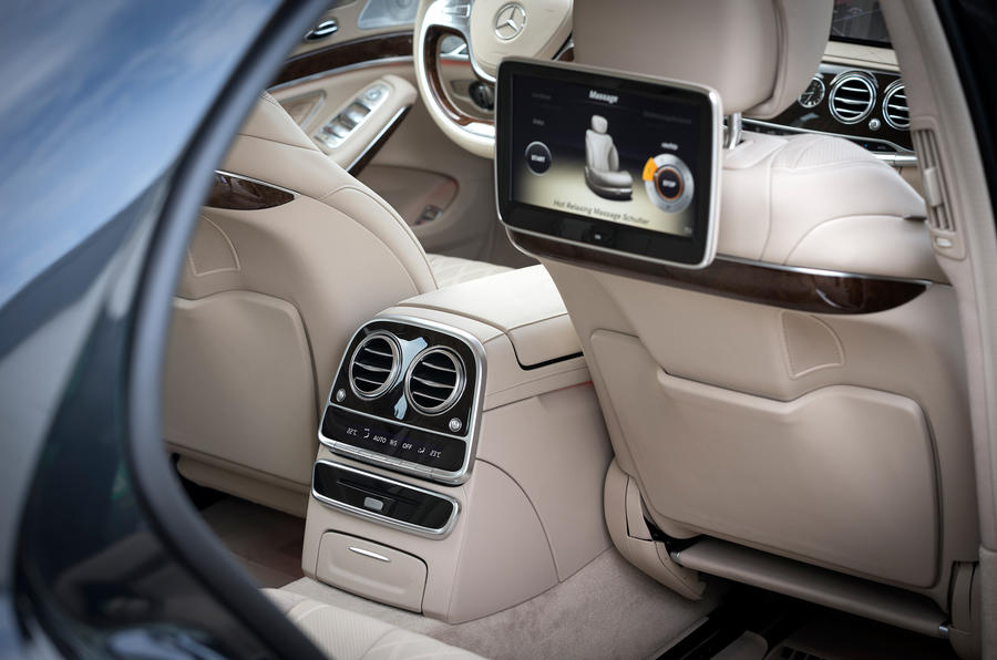Mercedes-Benz S-Class rear TV screens
