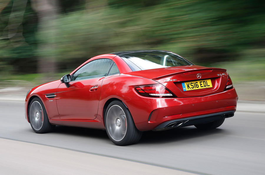 Mercedes-AMG SLC 43 rear quarter