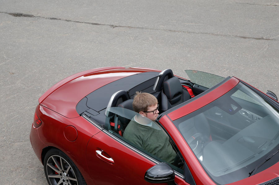 Mercedes-AMG SLC 43 roof down