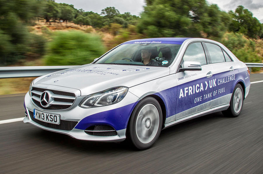 Mercedes-Benz E-class E300 hybrid completes 1223 miles on a tank of fuel