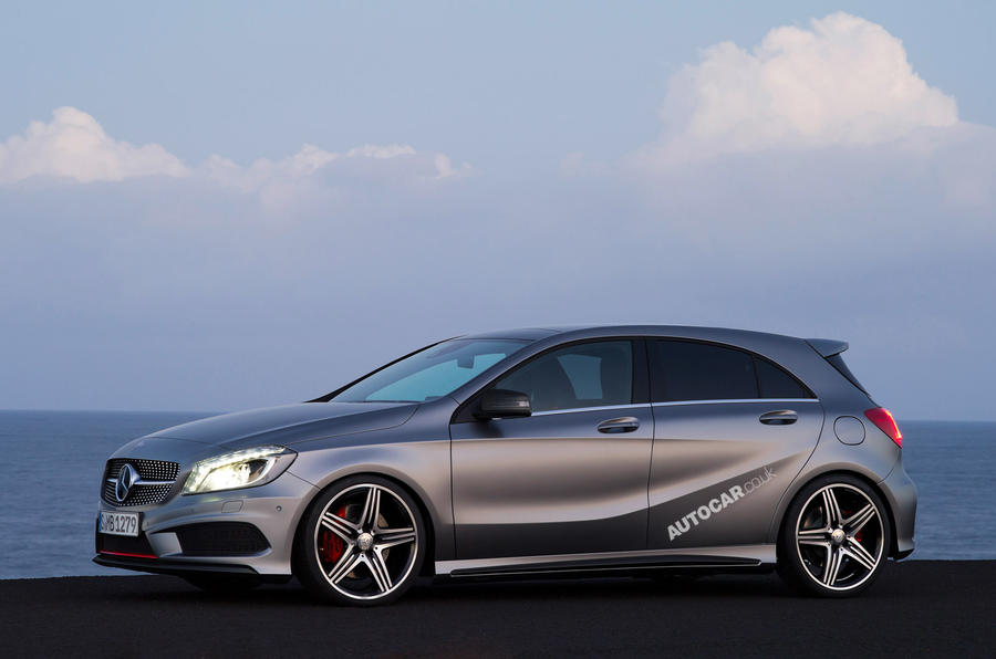 mercedes a45 amg details revealed autocar. Black Bedroom Furniture Sets. Home Design Ideas
