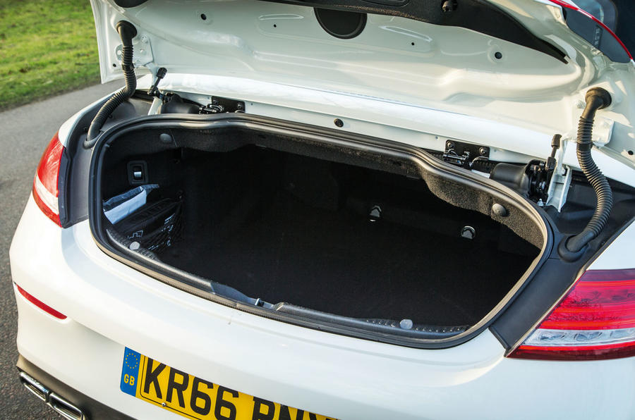 Mercedes-AMG C 63 Cabriolet boot space