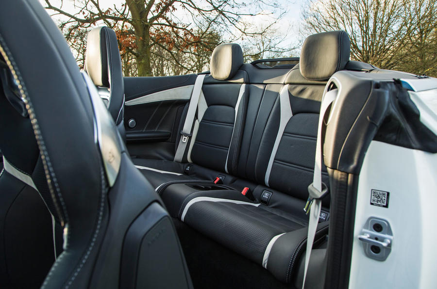 Mercedes-AMG C 63 Cabriolet rear seats