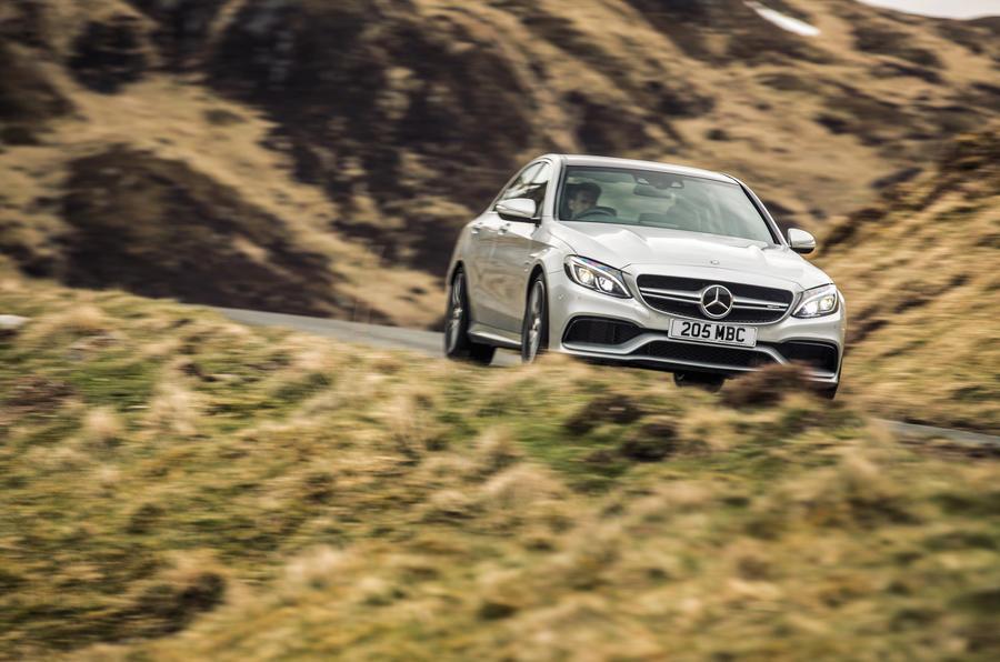 Mercedes-AMG C 63 cornering