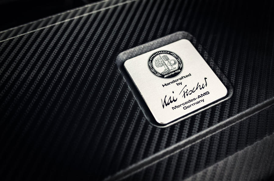 Mercedes-AMG engineer's plaque