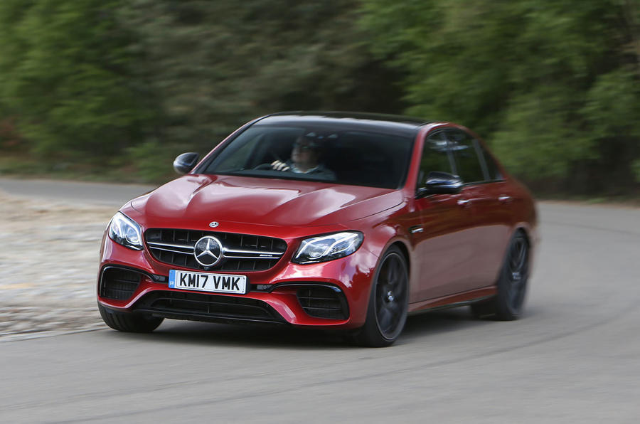 Mercedes-AMG E 63 cornering hard