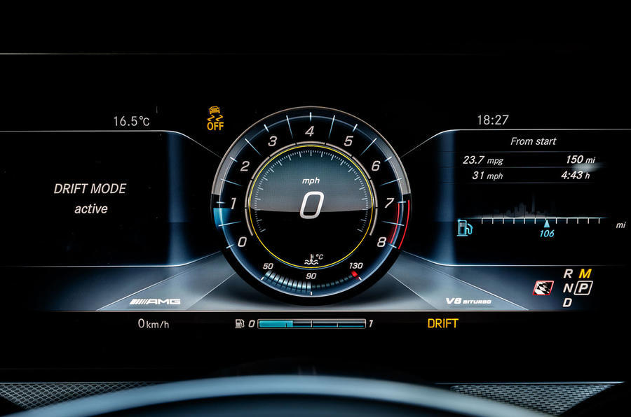 Mercedes-AMG E 63 digital instrument cluster