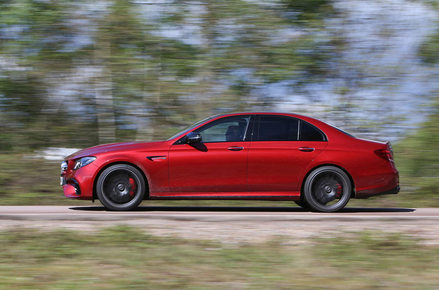 Mercedes-AMG E 63 on the road