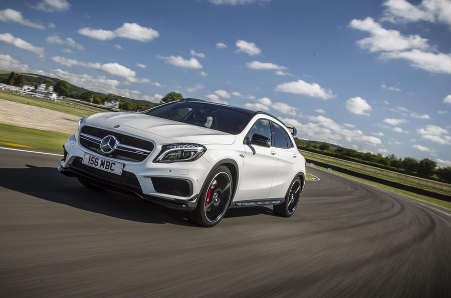 Mercedes amg gla 45 review 2017 autocar for 2017 mercedes benz amg gla 45