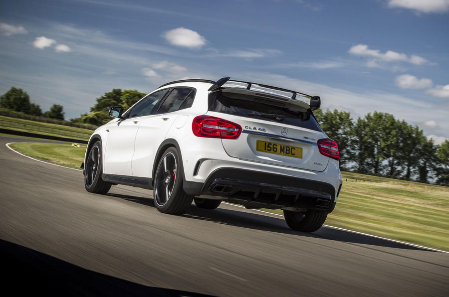 Mercedes-AMG GLA 45 rear cornering