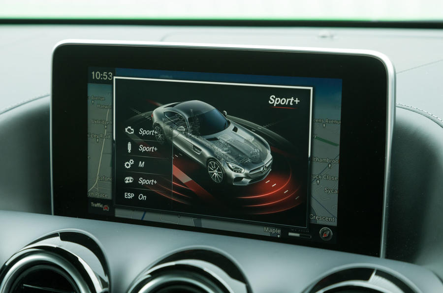 Mercedes-AMG GT R infotainment system