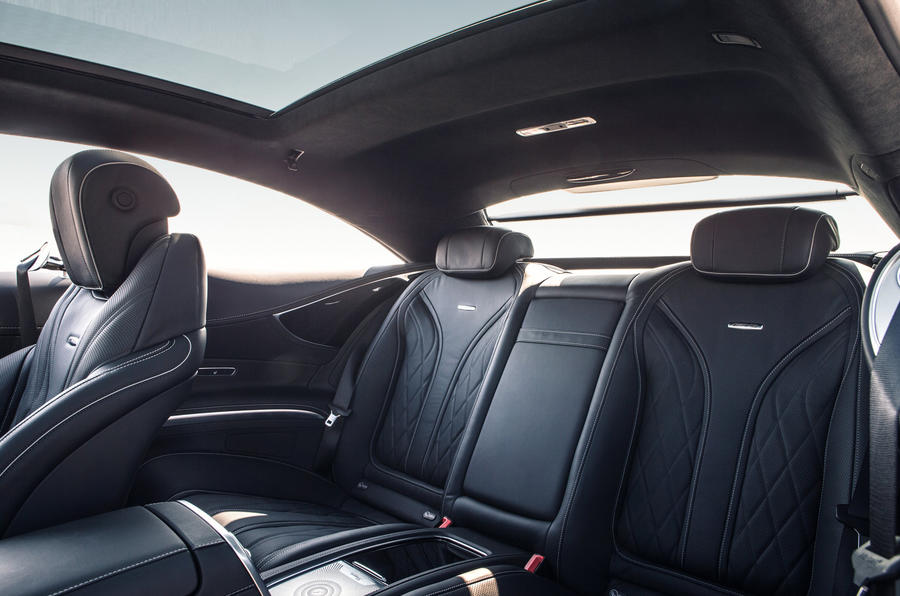 Mercedes-AMG S 63 Coupé rear seats