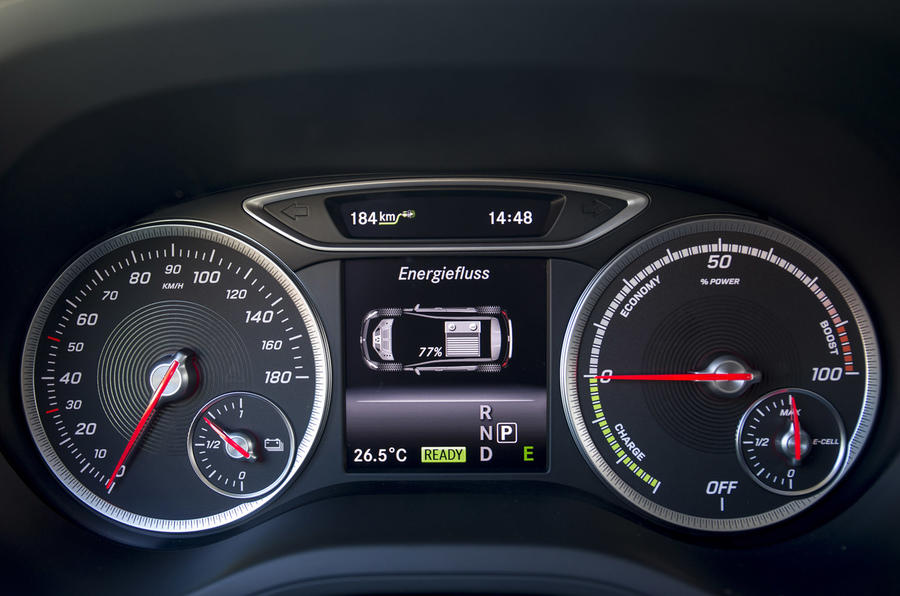 Mercedes-Benz B-Class Electric Drive instrument cluster