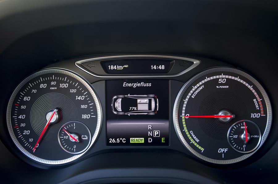 Mercedes-Benz B-Class Electric Drive instrument cluster