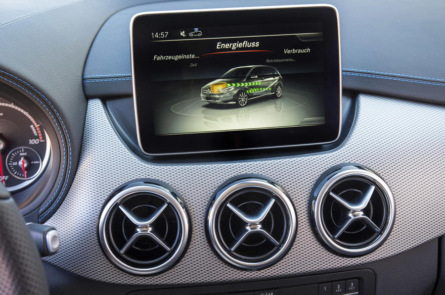 B-Class Electric Drive infotainment system