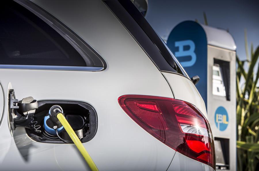 B-Class Electric Drive charging port