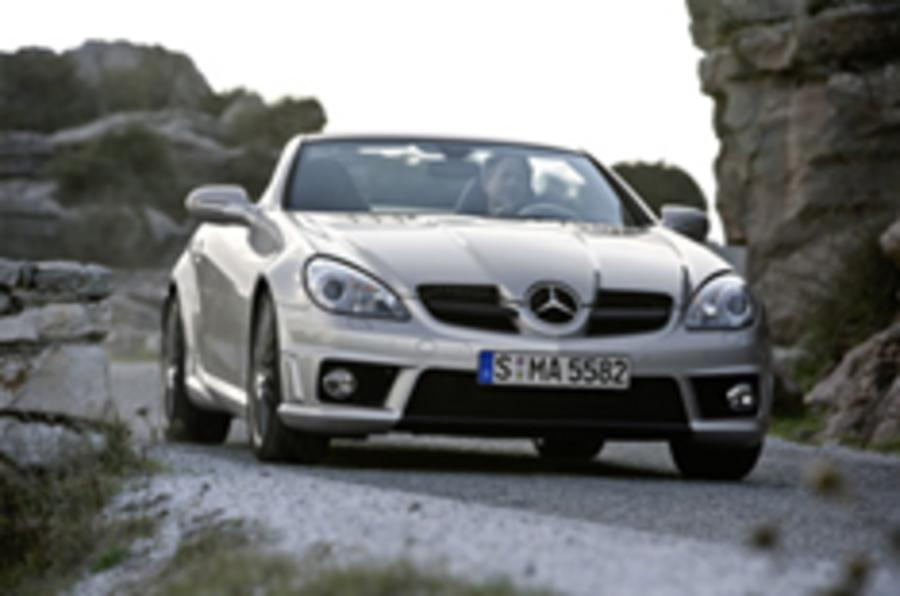 First images of facelifted SLK55 AMG