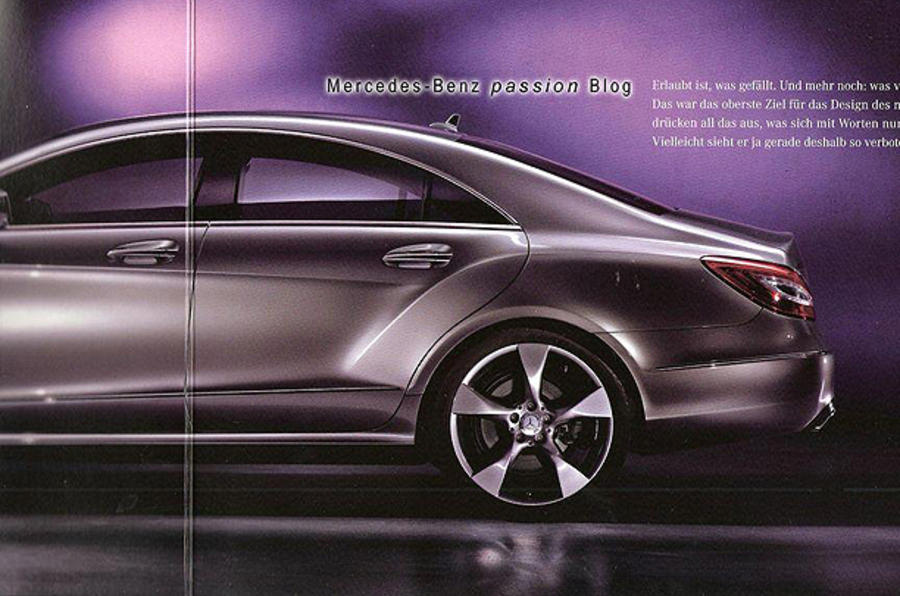 New Mercedes CLS leaks out