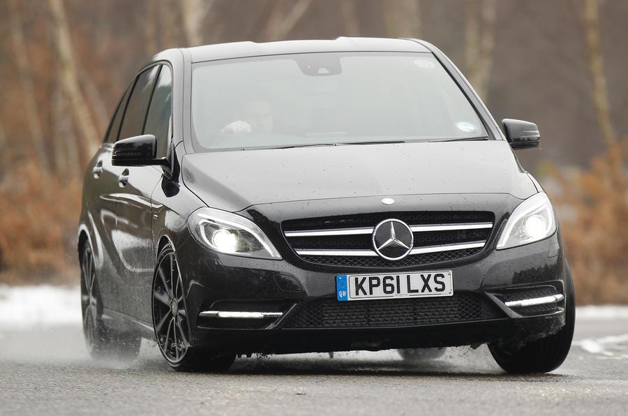 Mercedes-Benz B-Class cornering