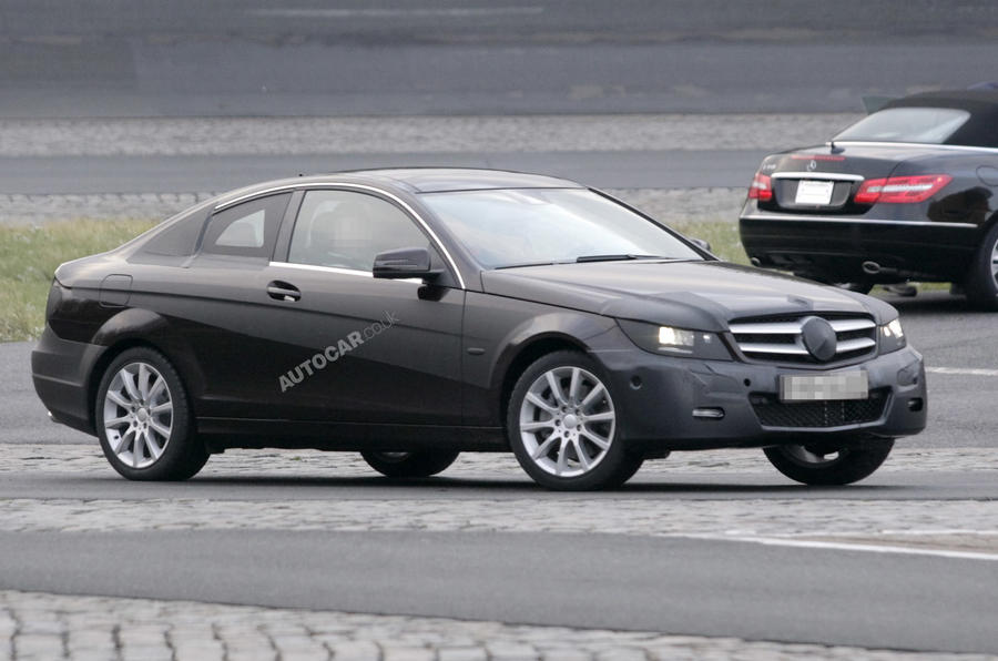 Merc C-class coupe scooped