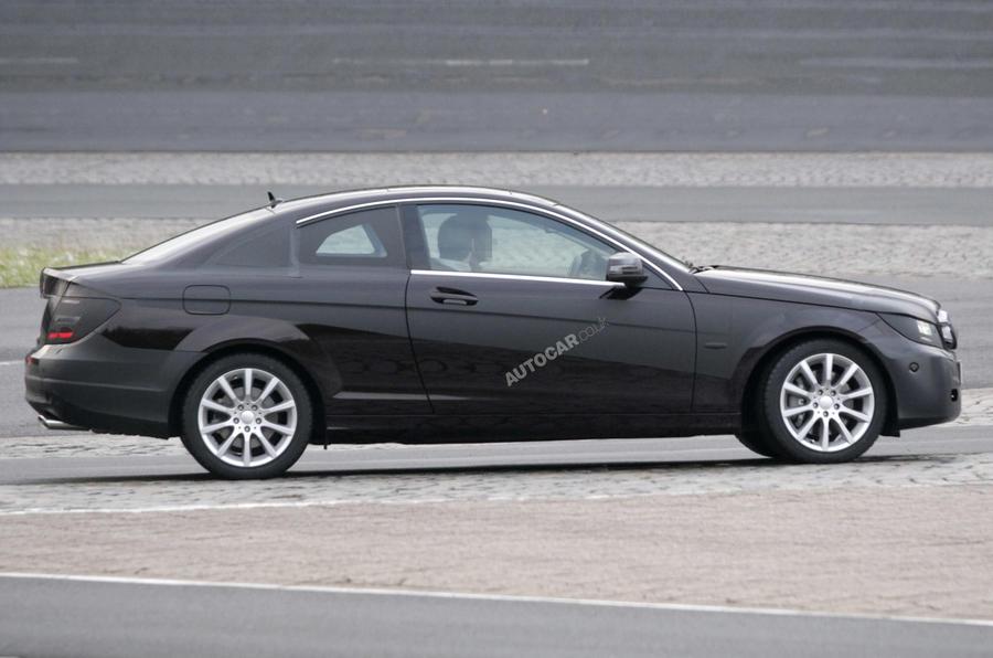 Merc C-class coupe scooped