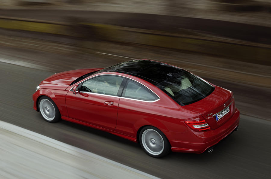 Merc C-class coupe leaks out