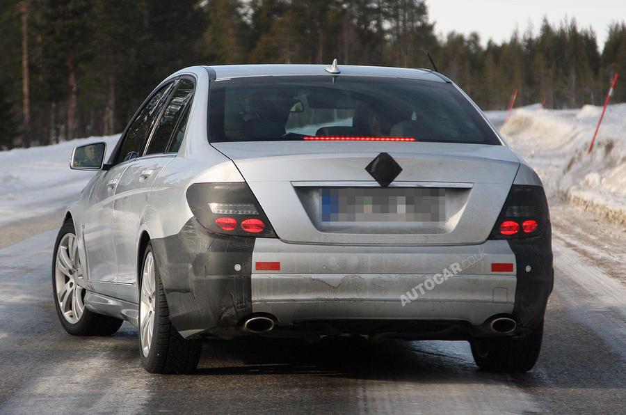 Mercedes C-class facelift spied