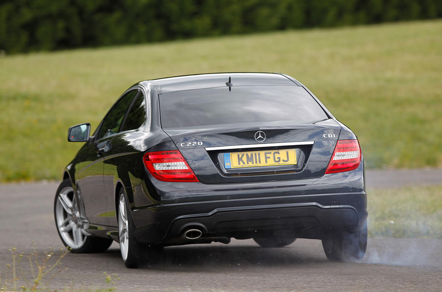 Mercedes-Benz C-Class Coupé rear cornering