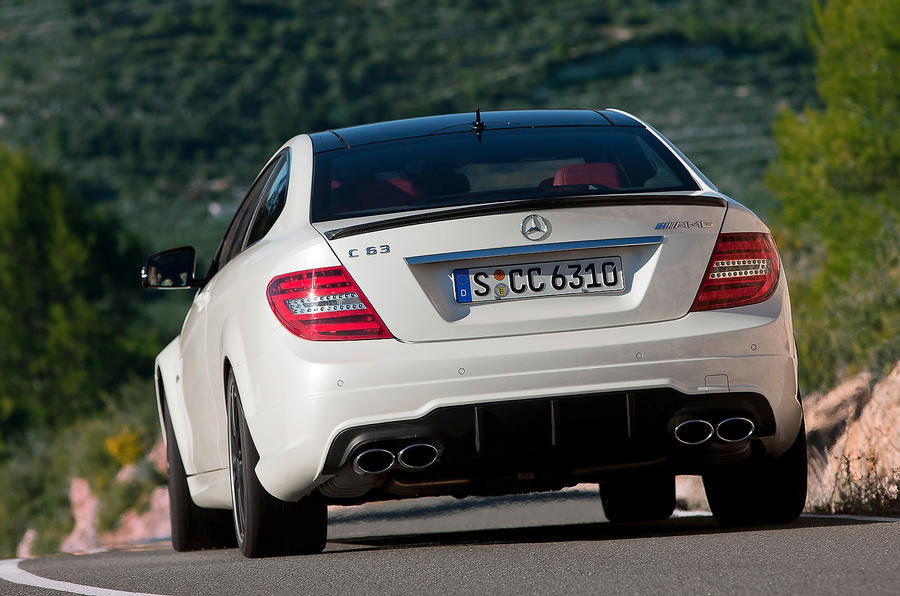 Mercedes-AMG C 63 rear cornering