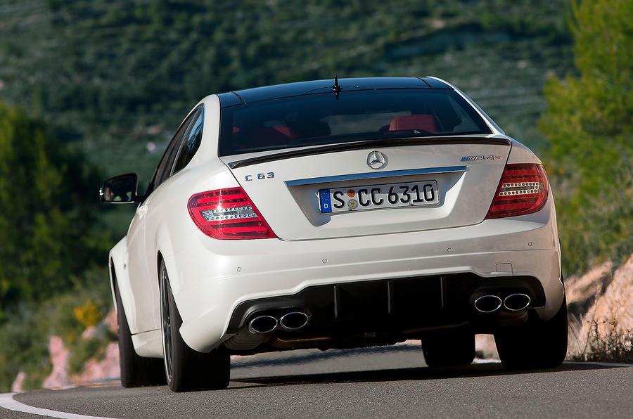 Mercedes-AMG C 63 rear cornering