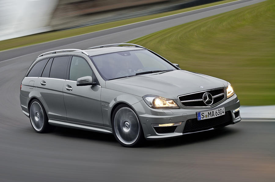 Mercedes-AMG C 63 estate cornering