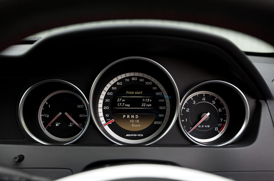 Mercedes-AMG C 63 Black Series instrument cluster