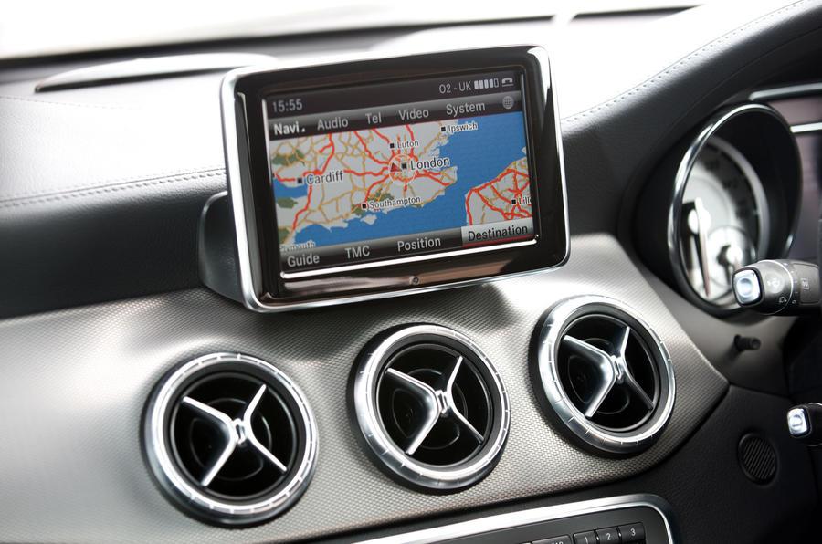 Mercedes-Benz CLA infotainment system