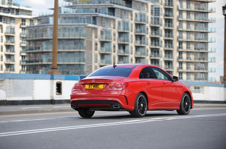 Mercedes-Benz CLA rear cornering