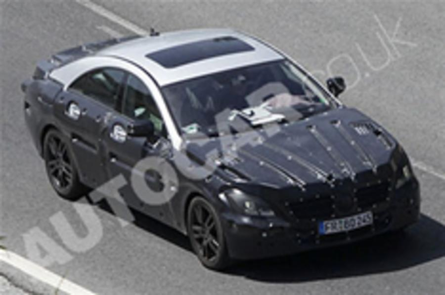 New Mercedes CLS spied