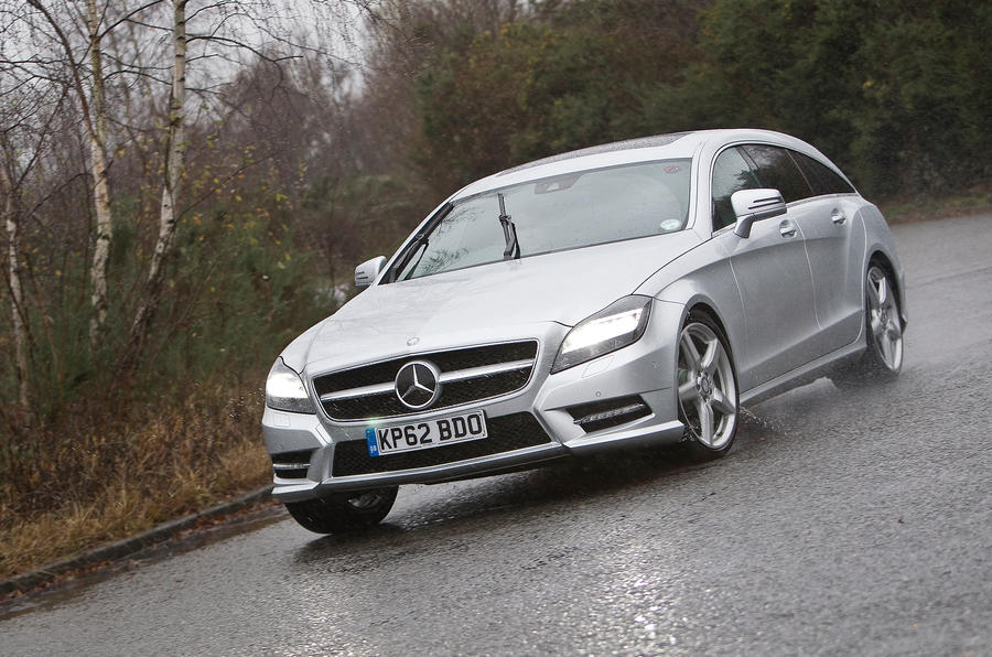 Mercedes-Benz CLS Shooting Brake cornering