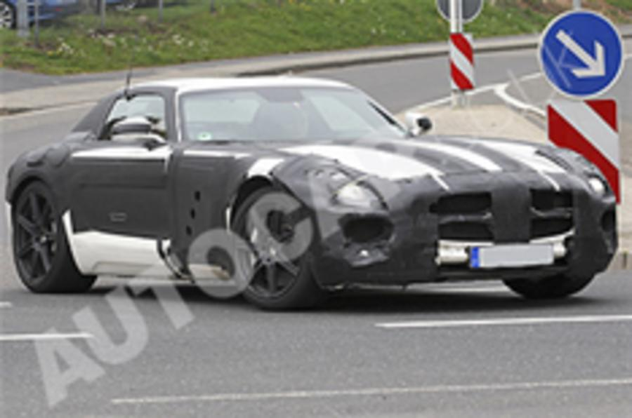 Mercedes SLS supercar spied