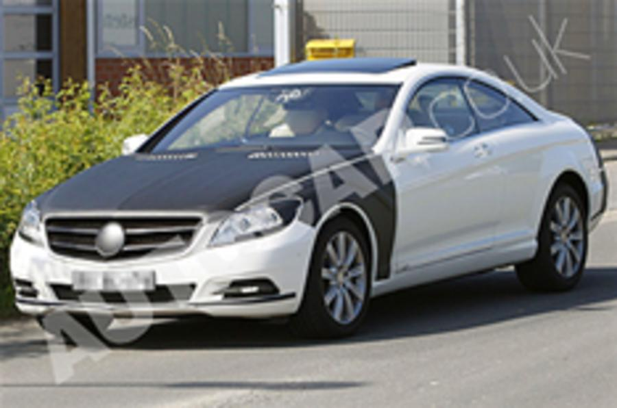 Mercedes S-class Coupe spied