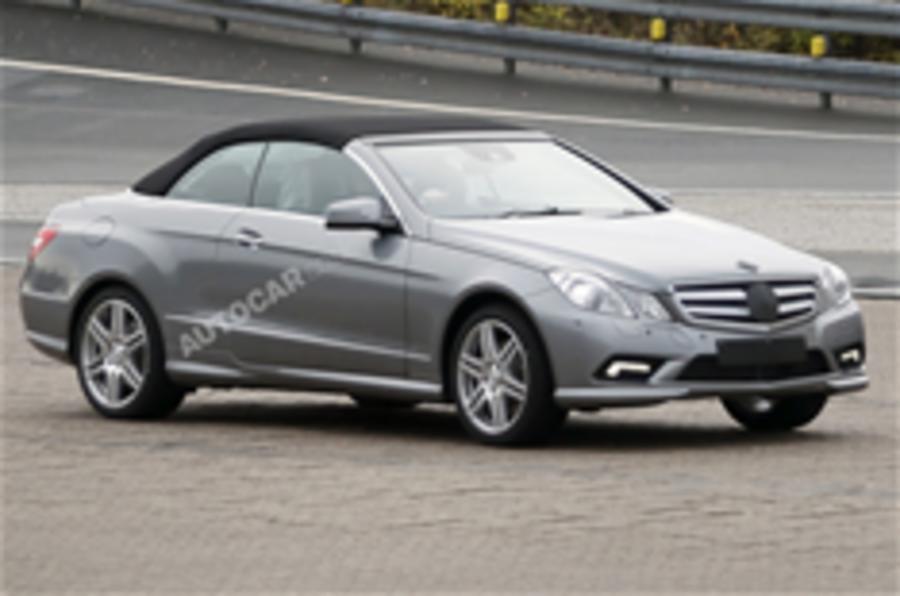 Mercedes E-class cabrio spied