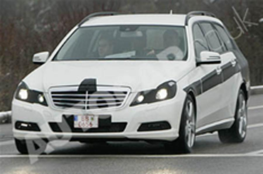 New E-class estate spied testing