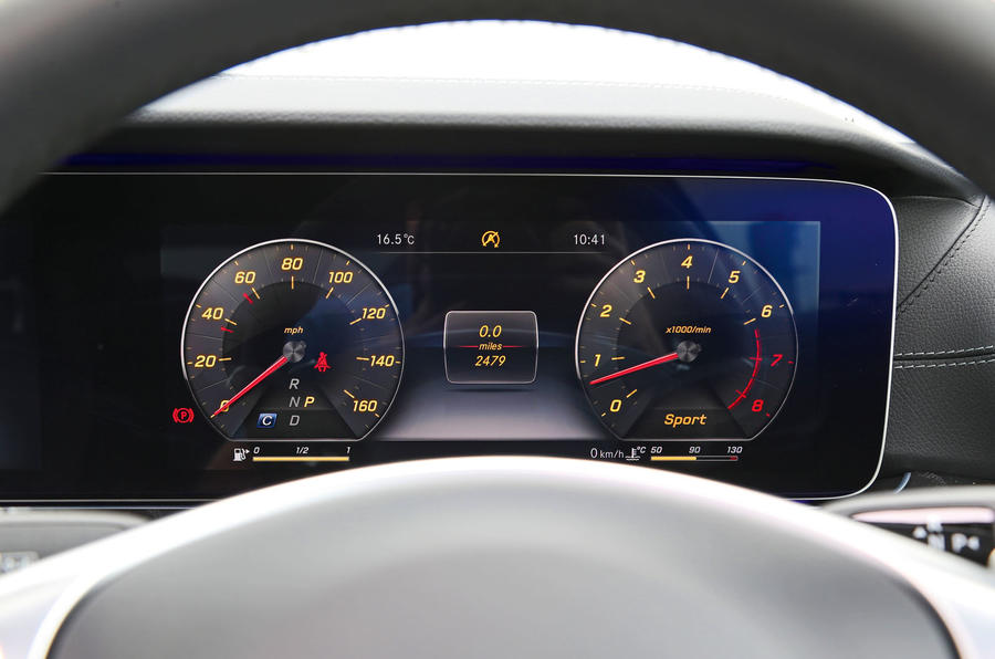 Mercedes-Benz E-Class Coupé digital instrument cluster