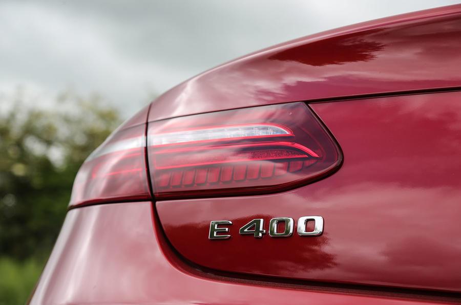Mercedes-Benz E-Class Coupé rear badging