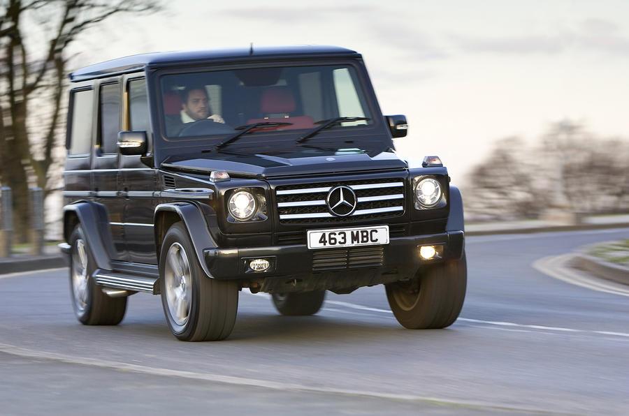 Mercedes-Benz G-Class cornering