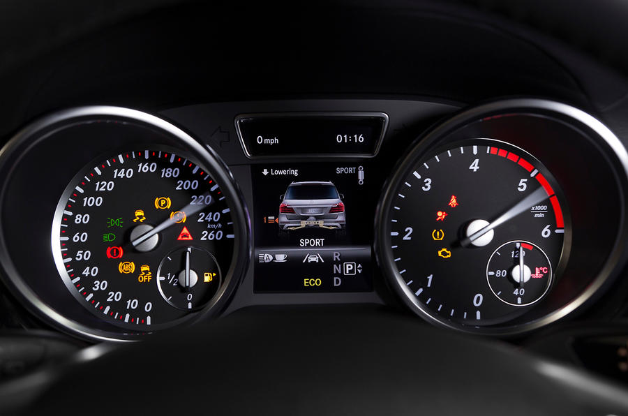 Mercedes-Benz GL 350 instrument cluster