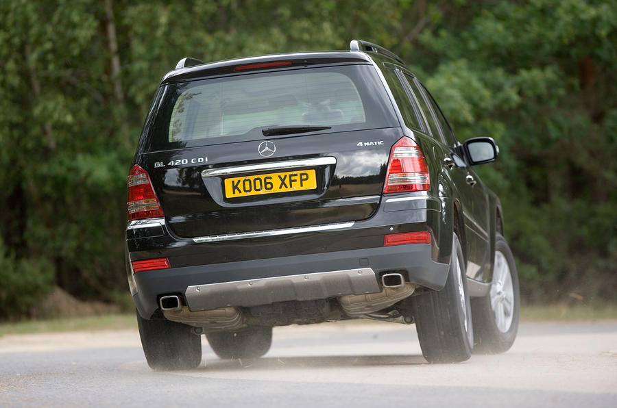 Mercedes-Benz GL hard rear cornering